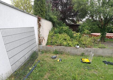 Doppelstabgitterzaun in 2291 Lassee Niederösterreich 06