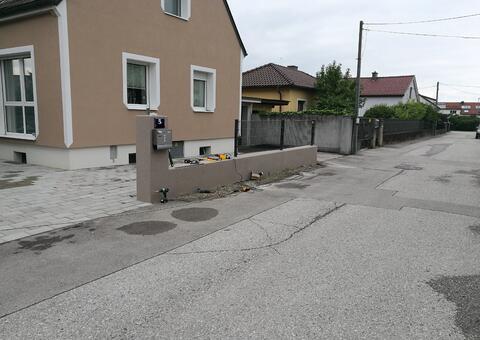 Doppelstabgitterzaun in 3151 St. Pölten-ST. Georgen Niederösterreich 06