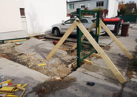 Doppelstabgitterzaun Müllplatz in 2540 Bad Vöslau Niederösterreich 03