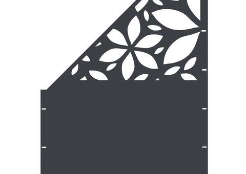 Flower schräg-links-97,5x180 ZES 03 01 A