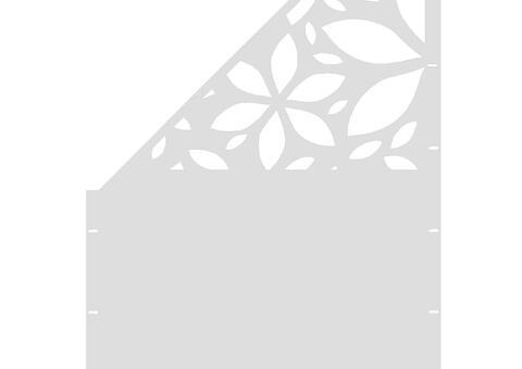Flower schräg-links-97,5x180 ZES 03 01 W
