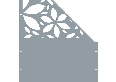 Flower schräg-rechts-97,5x180 ZES 02 01 H