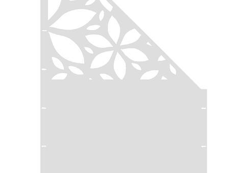 Flower schräg-rechts-97,5x180 ZES 02 01 W