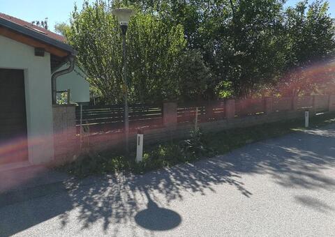 Alu-Zaun in 2482 Münchendorf Niederösterreich 05
